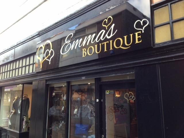 Emma's Boutique Fascia Signage